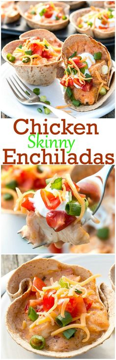 The fiesta is just getting started when you pull out these Skinny Chicken Enchiladas.