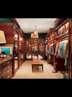 This is a True Gents Dream Dressing Closet.