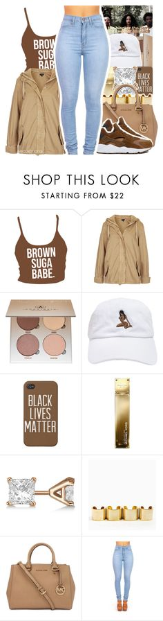 """"" by yeauxbriana ❤ liked on Polyvore featuring Topshop, Anastasia Beverly Hills, Michael Kors, Allurez and NIKE"
