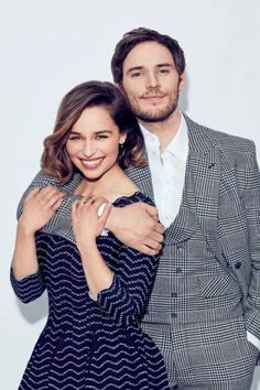 Emilia Clarke and Sam Claflin Sam Claflin, Emilia Clarke, Chef D Oeuvre, The Fault In Our Stars, Series Movies, Couple Shoot, Great Movies, Audrey Hepburn, Cute Couples