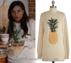 "Mindy's pineapple print pullover from ""Danny Castellano Is My Nutritionist"""