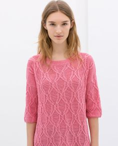 ZARA - NEW THIS WEEK - CABLE-KNIT SWEATER