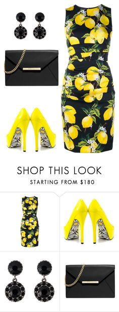 """""""Oh Yellow!"""" by ella178 ❤ liked on Polyvore featuring Dolce&Gabbana, TaylorSays, Givenchy, MICHAEL Michael Kors, women's clothing, women, female, woman, misses and juniors"""