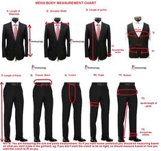 Men's Suit Measurements.