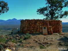 The old English fort on a hilltop at Uniondale, South Africa.