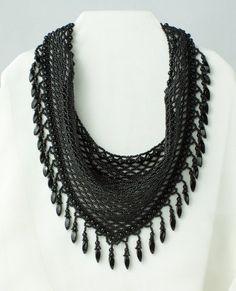Crochet Necklace, Beads, Jewelry, Crochet Collar, O Beads, Jewellery Making, Beading, Jewerly, Jewelery
