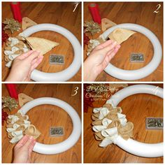 Burlap Christmas Wreath - ABC Creative Learning - Sugar Bee Crafts, The Effective Pictures We Offer You About DIY Wreath foam A quality picture can tell you many t Burlap Crafts, Bee Crafts, Wreath Crafts, Diy Wreath, Diy Crafts To Sell, Wreath Ideas, Burlap Christmas, Christmas Wreaths, Christmas Crafts