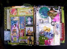 Beautifully funky journal ideas.