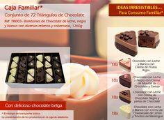 ¿Has visto a nuestros triángulos de chocolate? ¡Mira que son una delicia! Relleno, Breakfast, Chocolate Candies, Bonbon, Candy, Messages, Chocolate Mouse, Different Types Of, Crates