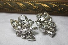 Excited to share the latest addition to my #etsy shop: Large Eisenberg Silver Tone and Rhinestone Art Deco Earrings, c1945, Eisenberg Rhinestone Clip On Earrings, Vintage Bridal Earrings http://etsy.me/2znrr1u #jewelry #earrings #clear #silver #women #artdeco #whitecatvintage