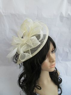 Ivory Fascinator..Stunning Ivory by SpecialDayfascinator on Etsy