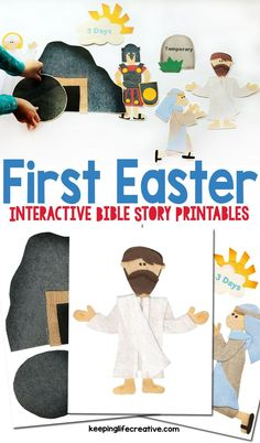 Make this Easter meaningful by telling the story of the Jesus' resurrection. Interactive storytelling printables for the flannel board, magnet board, and more!