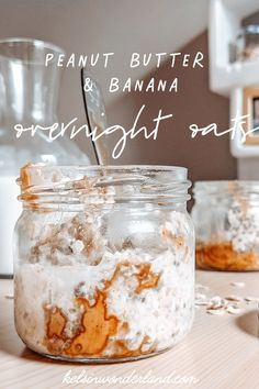 All you need is milk, oats, chia, peanut butter, and bananas! Lots of ways to swap ingredients and make it your own. This version is great for kids. Dairy Free Overnight Oats, Banana Overnight Oats, Fruit And Nut Bars, Balanced Breakfast, Breakfast Recipes, Breakfast Ideas, Peanut Butter Banana, Biscuits, Dairy Free Recipes