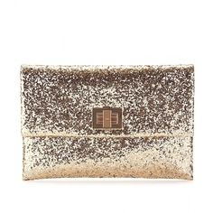 Anya Hindmarch Valorie Glitter Clutch, found on polyvore.com