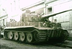 Panzerkampfwagen VI TIGER I in the street