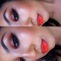 Coral Ombre Lips  redbrick, brownscripts &warming heart pp
