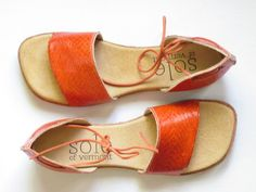 Roe- handmade shoes made from Icelandic Salmon leather.