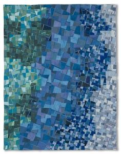 """Sea Spray"" By Valerie Maser-Flanagan, art quilt at Artworks! Gallery (New Bedford, MA)"