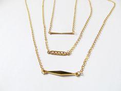 bar necklace small - custom lengths layer necklace, layered necklaces,layering necklaces,