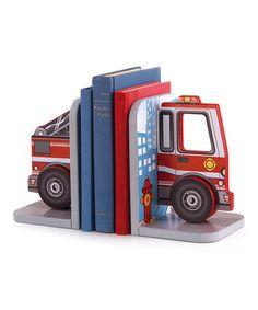 Look what I found on #zulily! Fire Truck Bookend Set by KidKraft #zulilyfinds