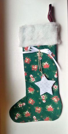 Nikolausstiefel groß grün rot  http://de.dawanda.com/product/73513591-Nikolausstiefel-gross-gruen-rot