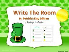 Place the printed picture cards around the room for students to find.  Your students will have fun finding words around the room and writing them on the recording sheet. During centers students use dry erase markers to write the words on laminated copies.
