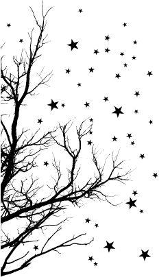 Memory box stamp stars at night