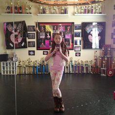 Sophia Lucia in her dance room.