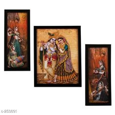 Checkout this latest Paintings_500-1000 Product Name: *Decorative Wall Paintings (Set Of 3)* Material: Wood & Plastic Size: Frame 1 (L x W) - 12.5 in x 5.2 in Frame 2 (L x W) - 9.5 in x 12.5 in Frame 3 (L x W) - 12.5 in x 5.2 in   Description: It Has 3 Pieces Of Frames With Painting (Glass Is Not Included) Work: Printed Country of Origin: India Easy Returns Available In Case Of Any Issue   Catalog Rating: ★4.1 (2738)  Catalog Name: Synthetic Wooden Frames Vol 8 CatalogID_26316 C127-SC1611 Code: 952-253891-825