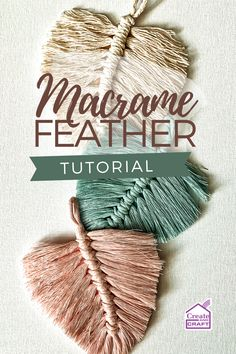 This beautiful little macrame feather project is a wonderfully versatile piece to have up your sleeve – once complete, these fantastic feathers can be turned into on-trend jewellery, used to decorate a range of home decor pieces, or even added to fashion accessories like bags and keyrings. Diy Keyring, Yarn Crafts, Diy Crafts, Macrame Wall Hanging Diy, Create And Craft, Craft Activities, Creative Crafts, Jewelry Trends, Feathers