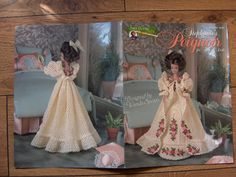 1997 crochet pattern Fashion Doll PEIGNOIR by GransTreasures