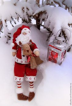 Санта Клаус или Дед Мороз - санта клаус,дед мороз,кукла Тильда,игрушка ручной работы