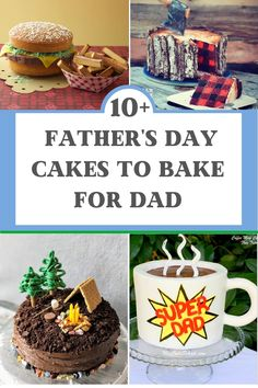 A collection of the coolest Father's Day cakes that you can bake at home for Dad. 10+ different themed cakes for Dad. #fathersdaycakes #fathersdaydessert #cakerecipes #funcakes #birthdaycakesforhim #cakesforguys #fathersday #bakingwithkids #kidsinthekitchen Diy Father's Day Gifts, Father's Day Diy, Diy Father's Day Cake, Beer Mug Cake, Lumberjack Cake, Camping Cakes, Music Cakes, Jenny Cookies, Dad Cake
