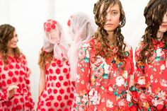 A look backstage at the Simone Rocha Spring/Summer 2015 collection.