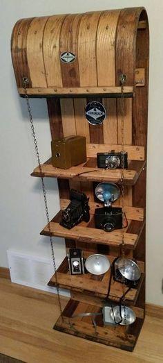 Upcycled Toboggan Shelf