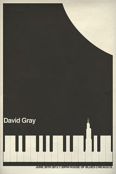 David Gray Gig Poster - Chicago | by Hunter Langston