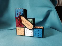 Block card... Lego style Lego, Cards, Accessories, Style, Swag, Maps, Playing Cards, Legos, Outfits