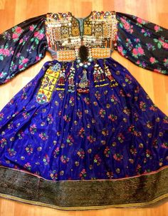 Afghan kuchi ethnic dress vintage asian traditional by akcaturkmen
