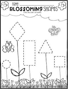 Spring math and literacy printables and worksheets for preschool