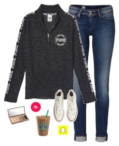 """Snapchat is life"" by savanahe ❤ liked on Polyvore featuring Tommy Hilfiger, Victoria's Secret, Urban Decay and Converse"