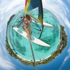 Picture of the Day: Sailing Through a Tiny Planet Panorama Gopro Fotografie, Gopro Video, Gopro Photography, Digital Photography, Foto Pose, Selfie Stick, Gopro Hero, Adventure Awaits, Planets