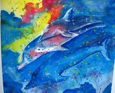Original Art Work Nautical Dolphin Watercolor by happybdaytome,