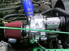 Super Charger on a 4.0 1999 TJ , Sitting in the factory AC location.  http://www.rippmods.com/RIPP_Supercharger_for_1997_1999_JEEP_Wrangler_TJ_p/9799tj-sds-1.htm