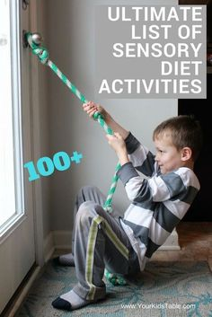 100+ Awesome and easy sensory diet activities that you can start using in your home today! Find the best activities for your kid.