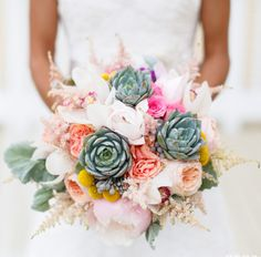 Amazing bouquet with succulents added in! http://www.georgestreetphoto.com/