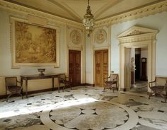The Marble Hall - Berrington Hall - designed by Henry Holland in 1778-81 for Thomas Harley