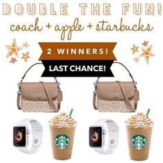 LAST CHANCE!! We're giving TWO of our followers this amazing double the fun bundle or $500 CASH each!🎉 • Entering is easy!👇 1️⃣Like + Save my photo! 2️⃣Follow me! 3️⃣Go to @mamahoodgiftaways to finish entering! • 🌟BONUS ENTRY🌟 Comment below telling me your favorite Starbucks drink! ☕️ . . . . . #babygirlclothes #babygirlootd #motherhoodinspired #motherhoodintheraw #babydiaries #lifeasmama #mynameismama #toddlerboutique #babyootd #babygirloutfit #smallshoplove #brandrepkids… Toddler Boutique, Last Chance, Starbucks Drinks, Giving, Your Favorite, Followers, My Photos, It Is Finished, Apple