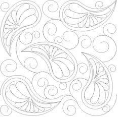Free motion quilting designs paisley 55 ideas for 2019 Quilting Stencils, Quilting Templates, Longarm Quilting, Free Motion Quilting, Quilting Projects, Machine Quilting Patterns, Embroidery Patterns, Quilt Patterns, Quilt Modernen