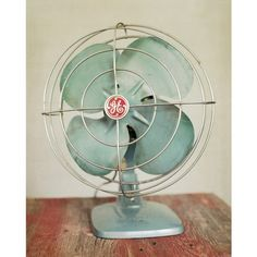 I had this same fan that I found at a church sale. Even though it sounded like an airplane when I turned it on I loved it. It reminded me of my dad because he had a larger version in the cellar. And I loved the vintage look.