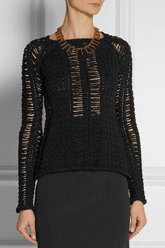 BALMAIN - Open-knit cotton sweater. Price: 650 euros. Yarn: 100% Cotton